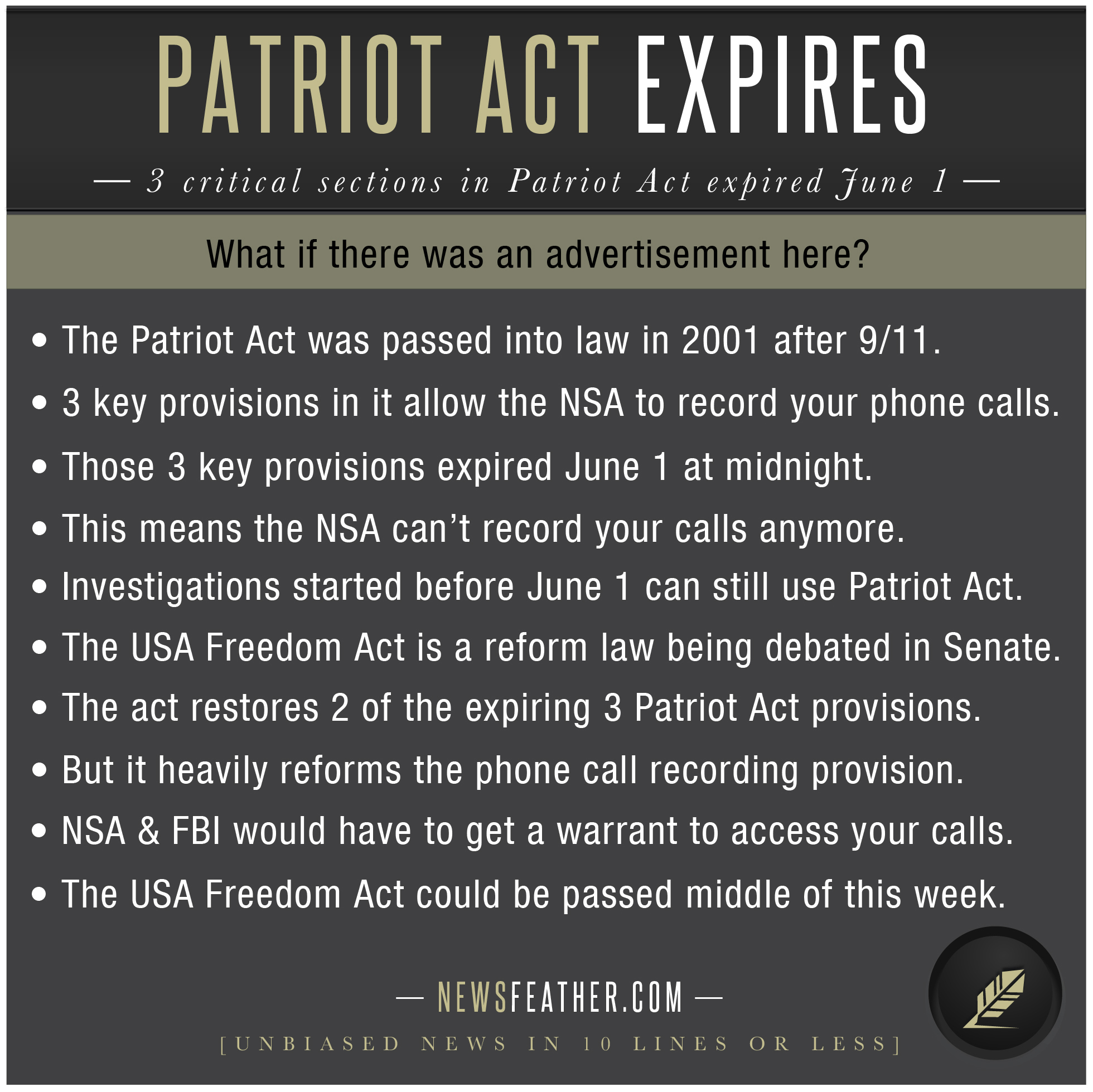 usa patriot act of 2001 essay The usa patriot act of 2001 essayssince the incredible events of september 11, we americans have had plenty to be concerned about: the nation has been grieving over the tragic loss of lives, nervous about the economic fall out from the attacks, reluctant to fly in commercial aircraft, anxious over.